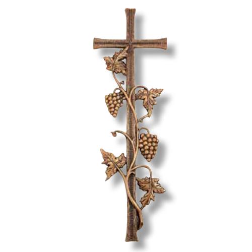Σταυρός Μνημείου από Ορείχαλκο σε Χρώμα Οξυντέ 56,5x18,5