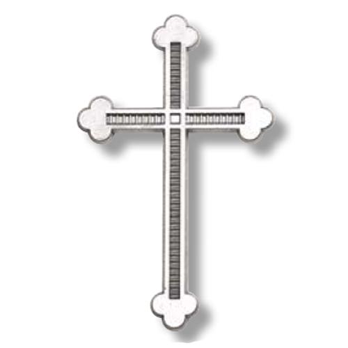 Σταυρός μνημείου από αλουμίνιο σε απόχρωση χρωμίου 20x13