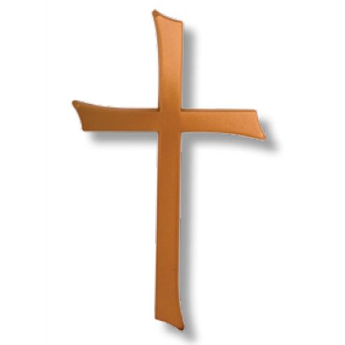 Σταυρός μνημείου από αλουμίνιο σε ματ μπρονζέ 25,5x15,5
