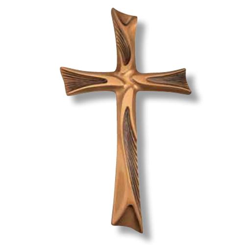 Σταυρός μνημείου από ορείχαλκο σε χρώμα οξυντέ 26x15,5