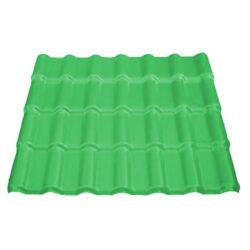 Πλαστικό φύλλο κεραμίδι ASA-PVC Πράσινο