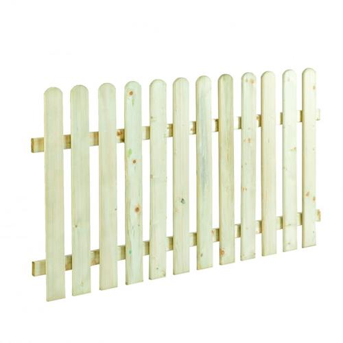 Ξύλινος φράχτης με λεία τάβλα Premium