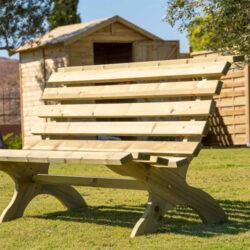 Ξύλινο παγκάκι κήπου 85x180