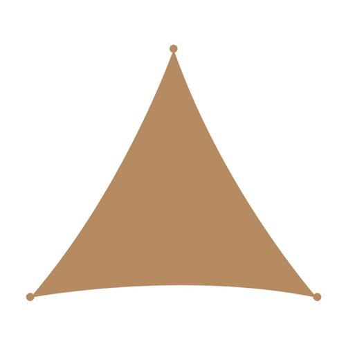 Τρίγωνο πανί σκίασης 3,6x3,6 άμμου
