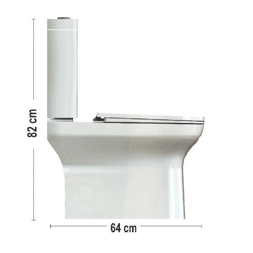 Λεκάνη τουαλέτας ARISTON-UF (RIMLESS) CASA PRACTICA 2