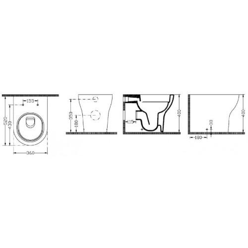 Λεκάνη τουαλέτας EOLIS BTW 2530 CASA PRACTICA 2
