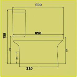 Λεκάνη τουαλέτας FONTANA-UF CASA PRACTICA 2