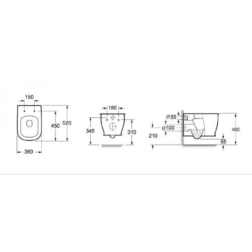 Λεκάνη τουαλέτας GENESIS CH 10150R CASA PRACTICA 3