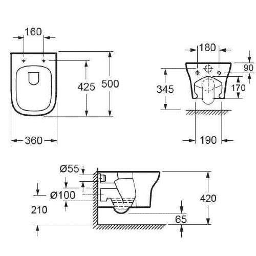 Λεκάνη τουαλέτας GRACE CH 10134 CASA PRACTICA 3