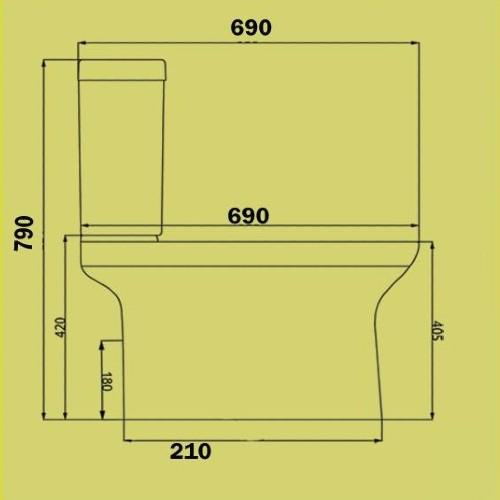 Λεκάνη τουαλέτας MIRANDA-UF CASA PRACTICA 1