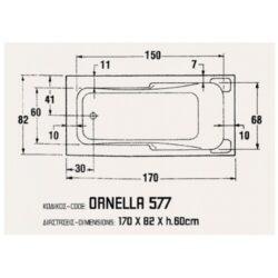 Μπανιέρα ORNELLA 170x82 CASA PRACTICA 2