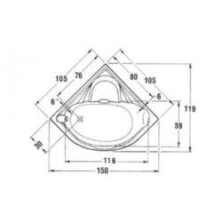 Μπανιέρα SAMANTHA 105x105 CASA PRACTICA 2
