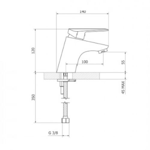 Μπαταρία νιπτήρος 2P710 CASA PRACTICA 1