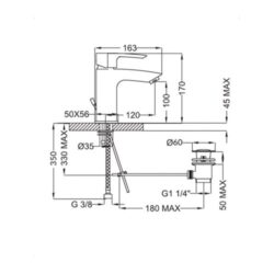 Μπαταρία νιπτήρος 2Q710 CASA PRACTICA 2