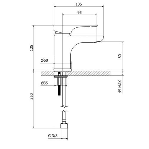 Μπαταρία νιπτήρος 2V710 CASA PRACTICA 1