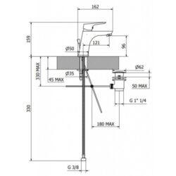 Μπαταρία νιπτήρος LK710 CASA PRACTICA 1