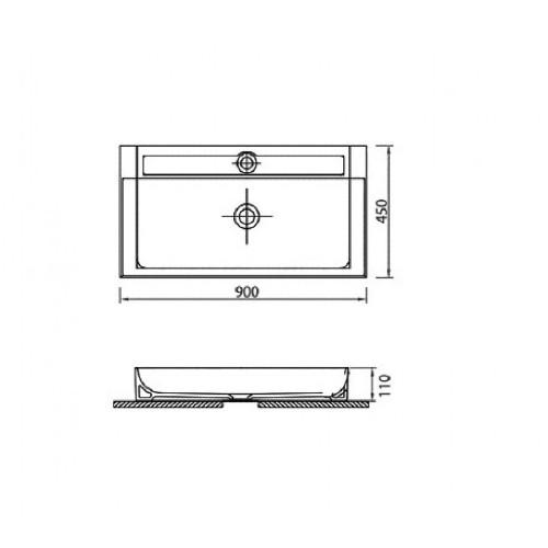 Νιπτήρας EDGE 6490 2