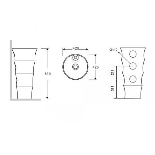 Νιπτήρας ELYSEE G-308 CASA PRACTICA 1