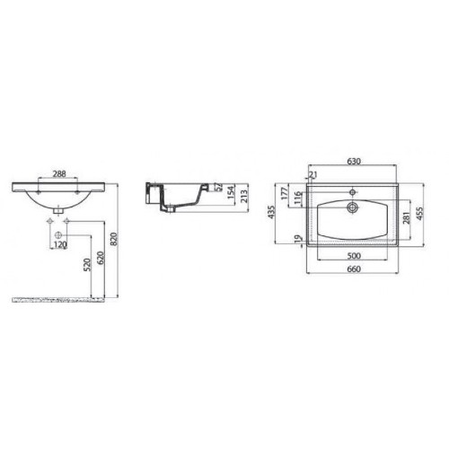 Νιπτήρας SUPERIOR TF 165 CASA PRACTICA 1