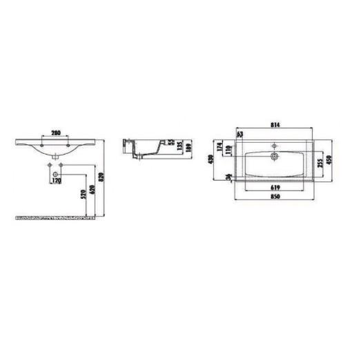 Νιπτήρας SUPERIOR TF 185 CASA PRACTICA 1