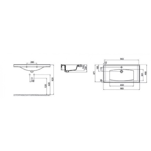 Νιπτήρας SUPERIOR TF 200 CASA PRACTICA 1