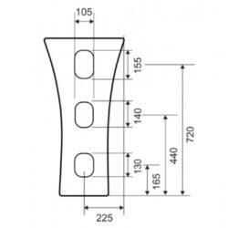 Νιπτήρας VENDOME G-036 CASA PRACTICA 2