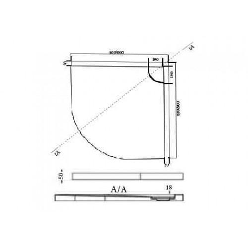 Ντουζιέρα ELEMENT 1 80x80x5 CASA PRACTICA 1