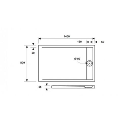 Ντουζιέρα ELEMENT 4 80x140x5 CASA PRACTICA (1)