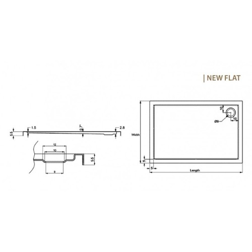 Ντουζιέρα NEW FLAT 6 80x110x5,5 CASA PRACTICA 1