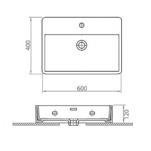 Νιπτήρας CONTOUR 61060 CASA PRACTICA 2