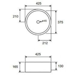 Νιπτήρας LT 3070 CASA PRACTICA 1