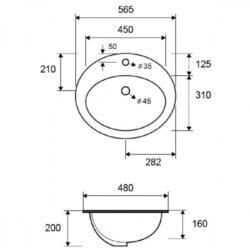 Νιπτήρας LT 6002 CASA PRACTICA 1