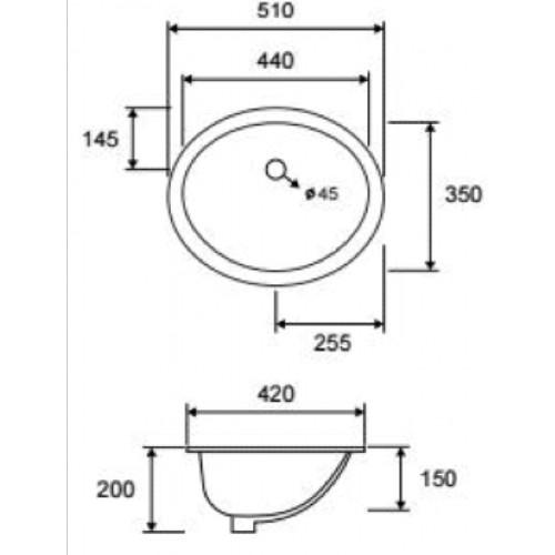Νιπτήρας LT 6005 CASA PRACTICA 1