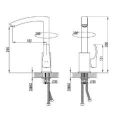Μπαταρία νεροχύτη Fagus VN56 CASA PRACTIKA 1