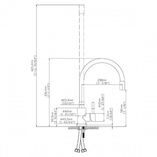 Μπαταρία νεροχύτη Linux Inox - K221 CASA PRACTIKA 1