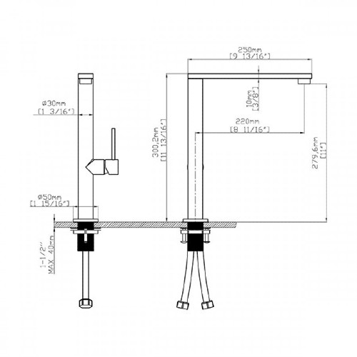 Μπαταρία νεροχύτη Monica - K935 Inox CASA PRACTIKA 1