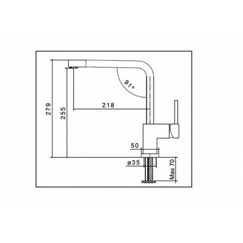Μπαταρία νεροχύτη Rubicon QM 56 CASA PRACTIKA 1