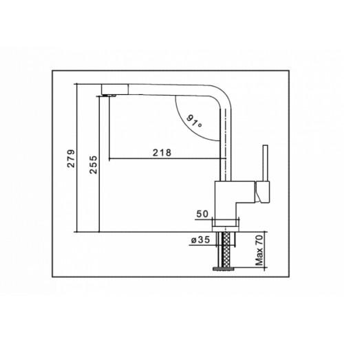 Μπαταρία νεροχύτη ZB 56 CASA PRACTIKA 1